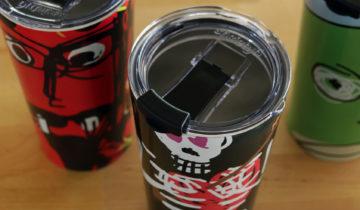 Metal travel mugs